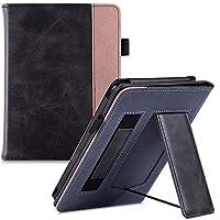 BOZHUORUI 全新 Kindle Paperwhite 保护套(* 10 代,2018 年发布,适合所有纸白色一代) - 便携式手持支架保护套,自动休眠/唤醒 摇滚黑色
