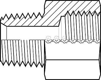 Adaptall 9037-24-24 系列 9037 碳钢直线适配器,1-1/2 英寸-11-1/2 公 NPT x 1-1/2 英寸-11 母 BSPP, NPT x BSPP, 碳钢