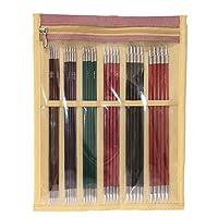 5. KNITPRO 皇家:针织别针 双端:一套(20厘米),桦木,黄铜,多色,25 x 4 x 30厘米