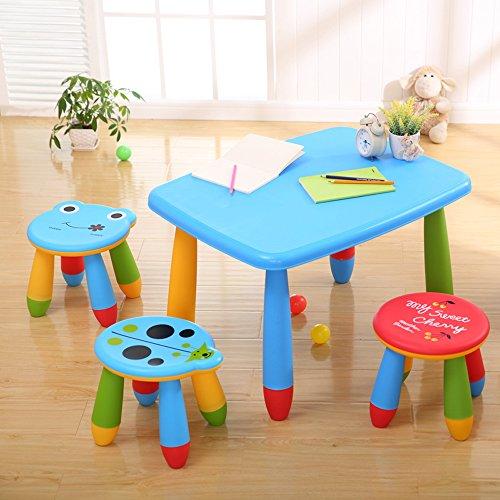 儿童桌椅组合塑料 宝宝学习吃饭桌加厚玩具桌子椅子 幼儿园卡通圆桌