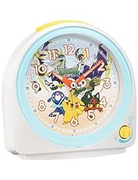 SEIKO CLOCK (セイコークロック) 目覚まし時計 ポケットモンスター サン&ムーン アナログ 白パール CQ149W