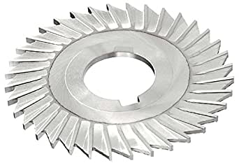 "KEO Milling 80472 开锯,直边齿,""MT""风格,11/64 英寸宽,2.54 厘米轴孔,42 齿,6 英寸切割直径,HSS,TiCN 涂层,标准切割"
