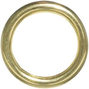 Craft County 黄铜 O 型环 - 内径尺寸选项(1/2,3/4,11/4,1.5 或 2 英寸) - 2 件装,5、10、15、25、50 或 100 3/4 Inch 50 Pack 50 X ORING34-BRASS-~CRAFT_BR