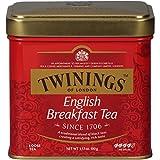 Twinings 川宁 英式早餐茶罐装散茶,3.53盎司(100克),6罐装