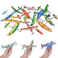Dreidel Company 飞翔滑翔机泡沫飞机玩具,户外运动玩具,泡沫教育滑翔飞机适合男孩幼儿,家庭飞行游戏玩具,儿童青少年,20.32 厘米泡沫塑料飞机 24-Pack