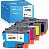 MYCARTRIDGE 兼容墨盒替换件 适用于 Brother LC3033 XXL LC3033XXL 适用于 Brother MFC-J995DW MFC-J995DW XL MFC-J805DW MFC-J805DW XL MFC-J815DW XL (黑色,青色,洋红色,黄色,4 件装)