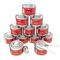 GASONE 12 只装 6 小时烹饪燃油芯 *液体燃料和盖子开瓶器 适用于擦菜碟