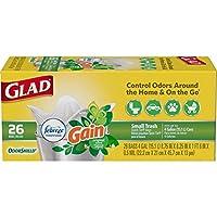 GLAD odorshield quick-tie 小号原装垃圾袋,156支 4 Gallon Bag 156