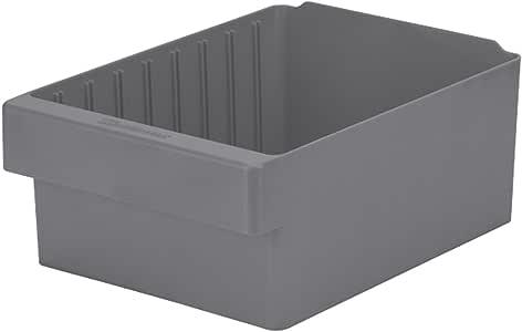 """Akro-Mils 31182 AkroDrawer 塑料储物抽屉,29.21 cm 长 x 21.59 cm 宽 x 11.43 cm 高 Inside Dimension:10-1/4""""L x 7-5/8"""" W x 4-7/16"""" H 31182GRY"""