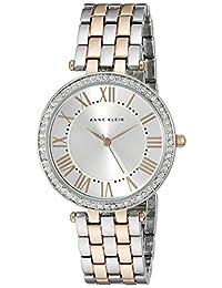 ANNE KLEIN 女式*表圈玫瑰 goldtone 和 silvertone 手鏈手表