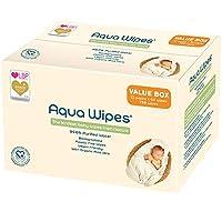 Aqua Wipes 嬰兒濕巾 100% 可生物降解 不含塑料 99.6% 純凈水 新生兒濕巾 素食 防腐劑和香水 NHS 認證