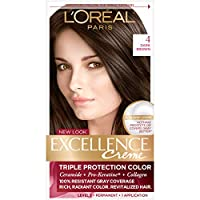 L'Oreal Paris 巴黎欧莱雅 Excellence Créme Permanent Hair Color, 4 Dark Brown 4 Dark Brown 1 Count