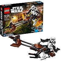 LEGO 乐高  拼插类 玩具  Star Wars 星球大战系列 侦查骑兵和极速机车 75532 10-14岁