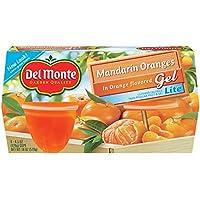 Del Monte Mandarin Oranges in Lite Orange flavored Gel Plastic Fruit Cups, 4.4-Ounce (Pack of 24)