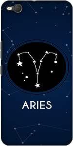 AMZER 纤薄款手工制作设计师印花硬质手机壳后盖带屏幕清洁套件皮肤适用于 HTC One X9AMZ601040331182 Stars Aries
