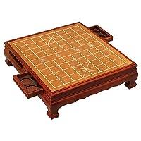 中国象棋桌-带抽屉-龙脑香TX609-搭配5分实木象棋子-御圣