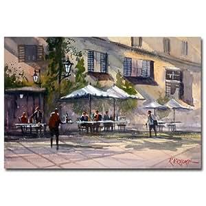 Trademark Fine Art Dining Alfresco Ryan Radke 画布墙体艺术 16 by 24-Inch RAR0016-C1624GG