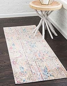 Unique Loom 3143270 Basilica 系列彩色传统波西米亚复古跑步毯地毯 P