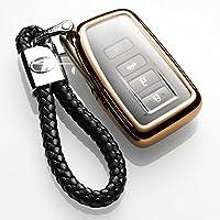 雷克萨斯汽车钥匙包ES250t ES300h RX200T NX200 GS凌志套壳扣 雷萨克斯金色+绳子