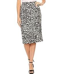 女式膝盖以下铅笔裙适合办公室穿着 - 美国制造