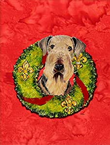 Caroline's Treasures Airedale Flag Made or Printed in the USA 多色 小号