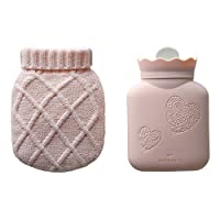 微波炉 OK! 简单 温暖 可爱 硅 柔软 热水袋Nukuton (带针织罩) 迷你 粉色 F9599