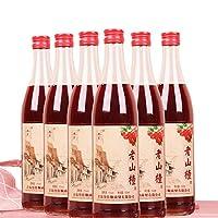 山楂酒 六度老山楂果酒 500ML*6瓶 女士山楂果味酒 低度果酒 童年老味道山楂酒