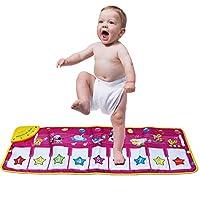 音乐垫,Kingseye Baby Early Education 音乐钢琴键盘地毯动物毯触点游戏*学习拼音儿童趣味玩具(紫色)