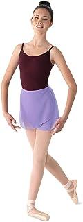 Bloch Mirella 女式乔其纱裹身舞裙,淡紫色,均码