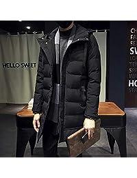 中国风时尚加厚连帽羽绒棉衣男士保暖中长款棉服外套男装