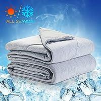 LUXEAR 凉爽毯子 独特设计夏季毯子 日本Q-Max 0.4清凉纤维 凉爽环保 透气柔软 可机洗 清凉轻便 睡觉夜用汗布
