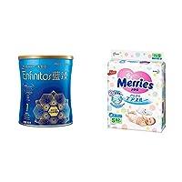 美赞臣(Mead Johnson) 蓝臻系列 婴儿配方奶粉900克罐装 1段(0-12月龄)+ 花王(Merries) 纸尿裤 S82片 小号尿不湿(4-8kg)(日本原装进口)