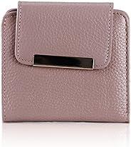 女士真皮钱包优雅三折钱包迷你信用卡手拿包短款女士钱包