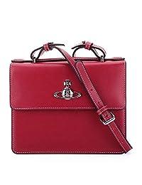 Vivienne Westwood/维维安·韦斯特伍德女款红色牛皮手提/单肩/斜挎包 41010019