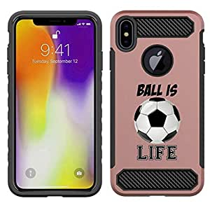 iPhone Xs Max 覆盖 多种颜色 Rose Gold - Soccer Ball Is Life Quote Girls Teens