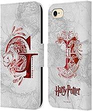 官方哈利波特死神圣 IX 皮革書本錢包手機殼適用于蘋果 iPhone 手機HLBWH-IPH7-HPOTDH9-LGRY  錢包手機殼 Apple iPhone 7 / iPhone 8 / iPhone SE 2020
