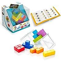 SmartGames 魔方拼图游戏 GO – 3D STEM 游戏 – 8 岁及以上儿童大脑推拉器,便携式展示箱中有 80 个挑战。