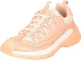 Cambridge Select 女式复古90年代系带粗跟厚底时尚运动鞋