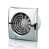 Blauberg UK 100 Quiet T 鍍鉻 100 mm 帶計時器風扇 - 鉻 鍍鉻色 150 mm 150 Quiet T Chrome
