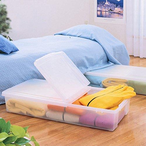 镇店之宝,日本IRIS爱丽思 床下整理收纳箱 透明4个装