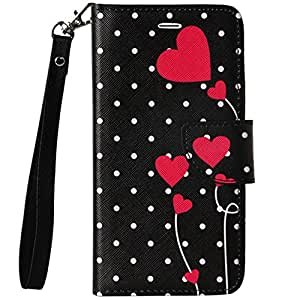 SumacLife 仿皮手腕钱包手机壳适用于苹果 iPhone 6s Plus/6 Plus - 零售包装 - 樱花APLLEA643 iPhone 6 / 6s 波尔卡圆点