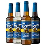 Torani Sugar Free Syrup Variety Pack, 25.4 Fluid Ounce (Pack of 4)