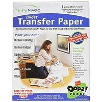 "Transfer Magic 喷墨传输纸-8-1/2 X11 7/Pkg 8-1/2""x11"" 7/Pkg 8.5-x-11-Inch FXINK-7"