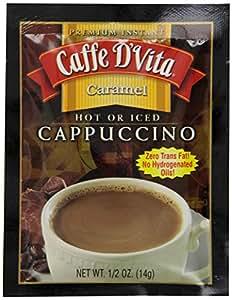 Caffe D'Vita 高级速溶卡布奇诺混合物,0.5 盎司信封(24 包)