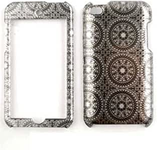 Cell Armor Snap-On Cover for iPod touch 4 (Transparent Design, Gray Circular Patterns)