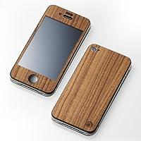 Deff iPhone4 iPhone4S用 CLEAVE 木纹PLATE 日本制造 腮红 DCP-IP40WTK