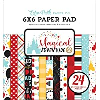 Echo Park Paper Company MAG177023 魔法冒险 2 张 15.24 x 15.24 厘米纸板,黑色,红色,黄色,蓝*,牛皮纸