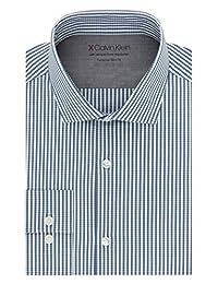 Calvin Klein 男式正装衬衫超修身格子 热弹力