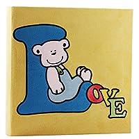姿文相册 大6寸 4D200张情侣 精美宝宝像册 布面插页式相册 影集 黄色