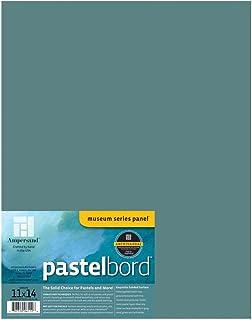 Ampersand Museum Series Pastelbord 适用于蜡笔、木炭笔、铅笔和墨水 绿色 - 0.32 cm 深 11X14 PBG11